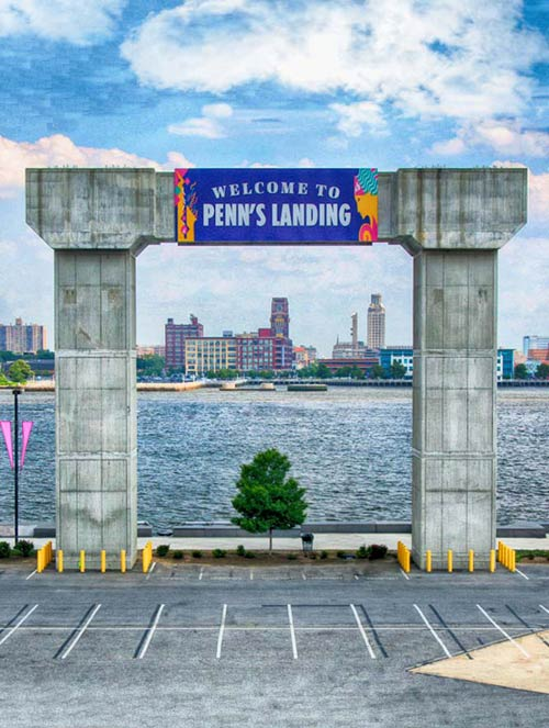 penns-landing-parking-lot-sign