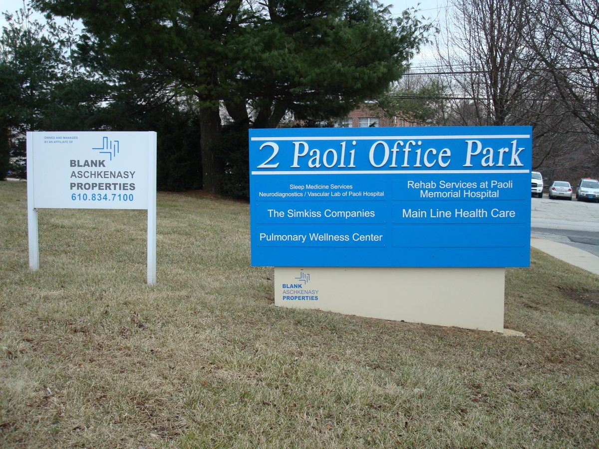 Office park cabinet sign