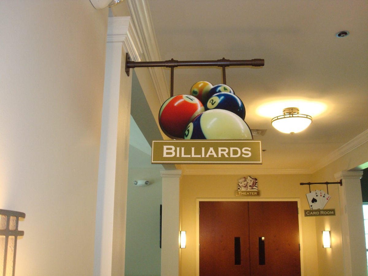 Custom realistic billiards sign