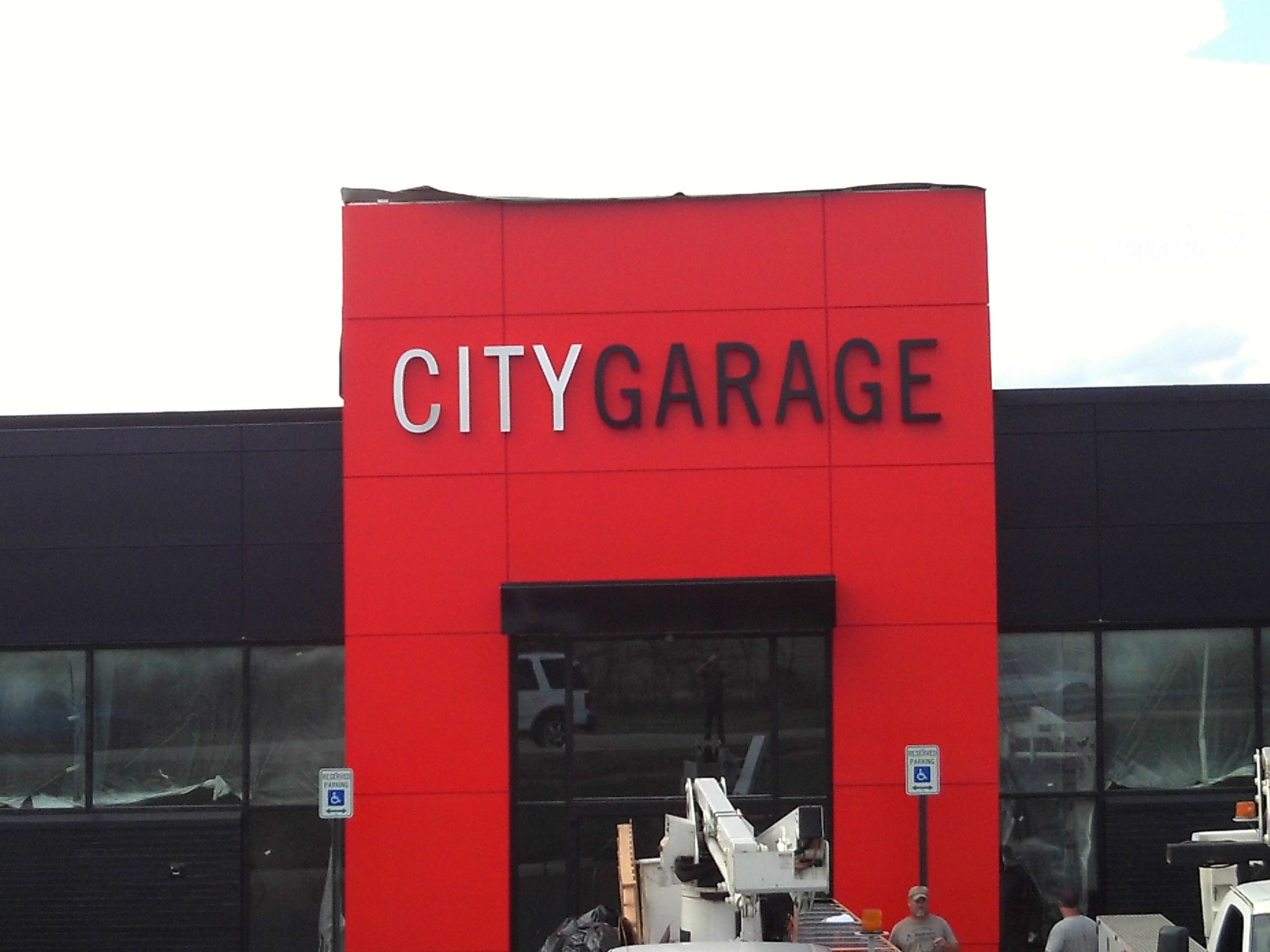 CITY GARAGE custom lettering