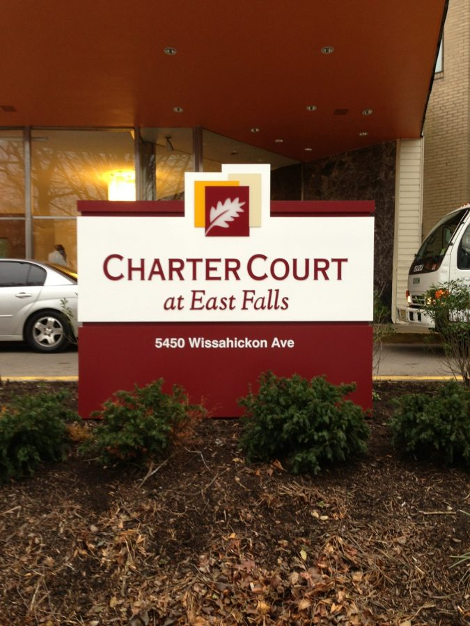 Charter court sign