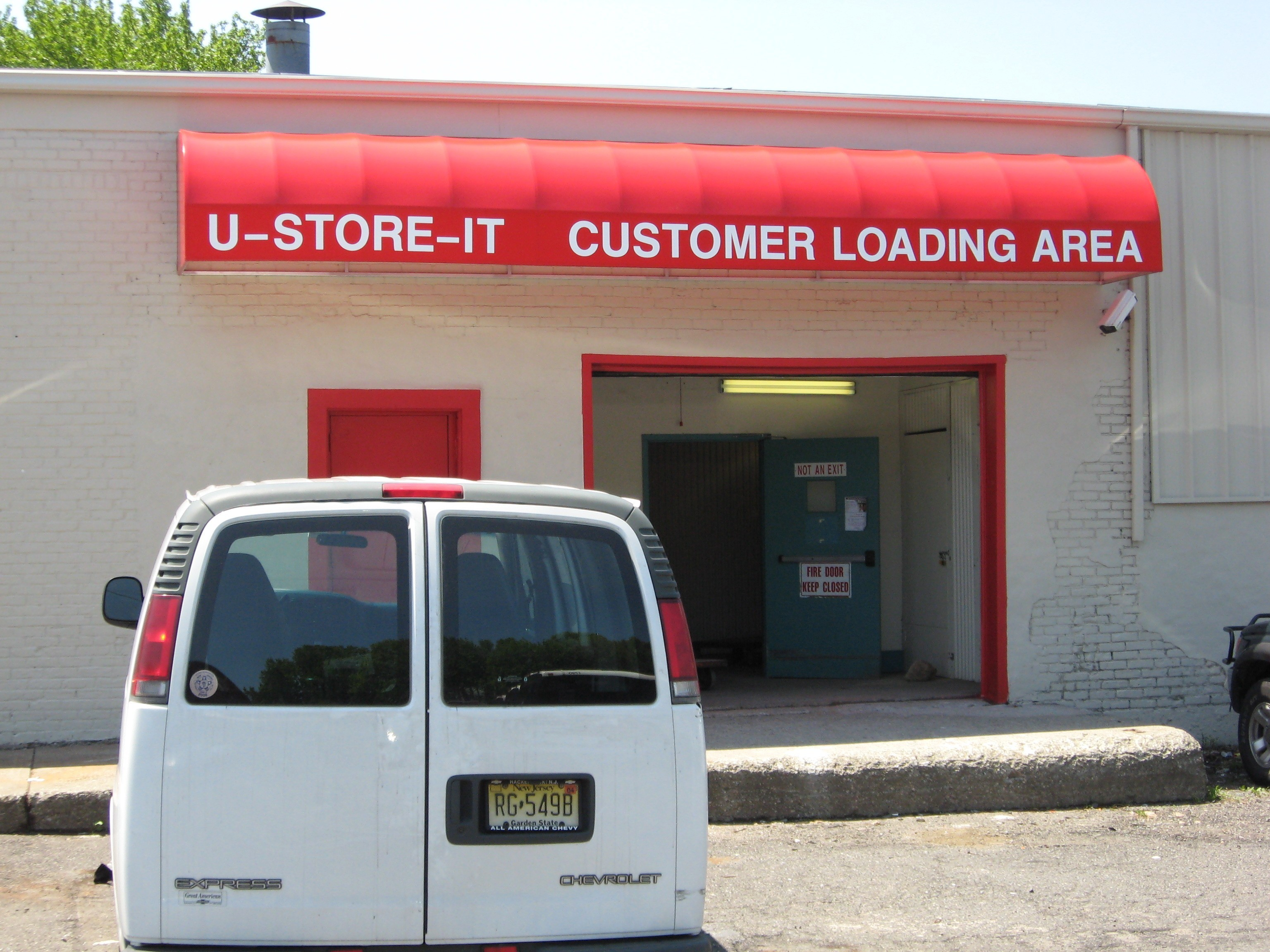 U-Store-It custom awning