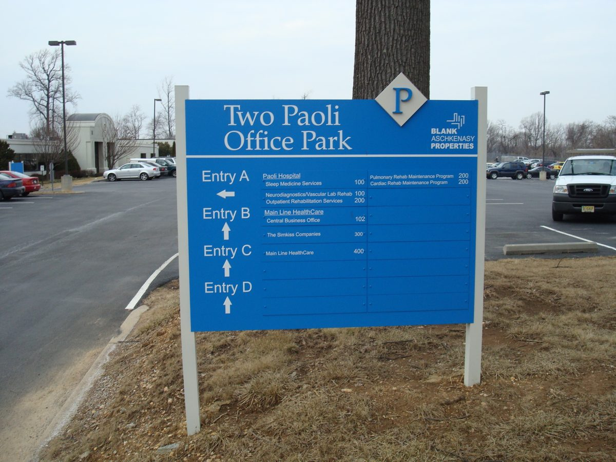Exterior office direction menu