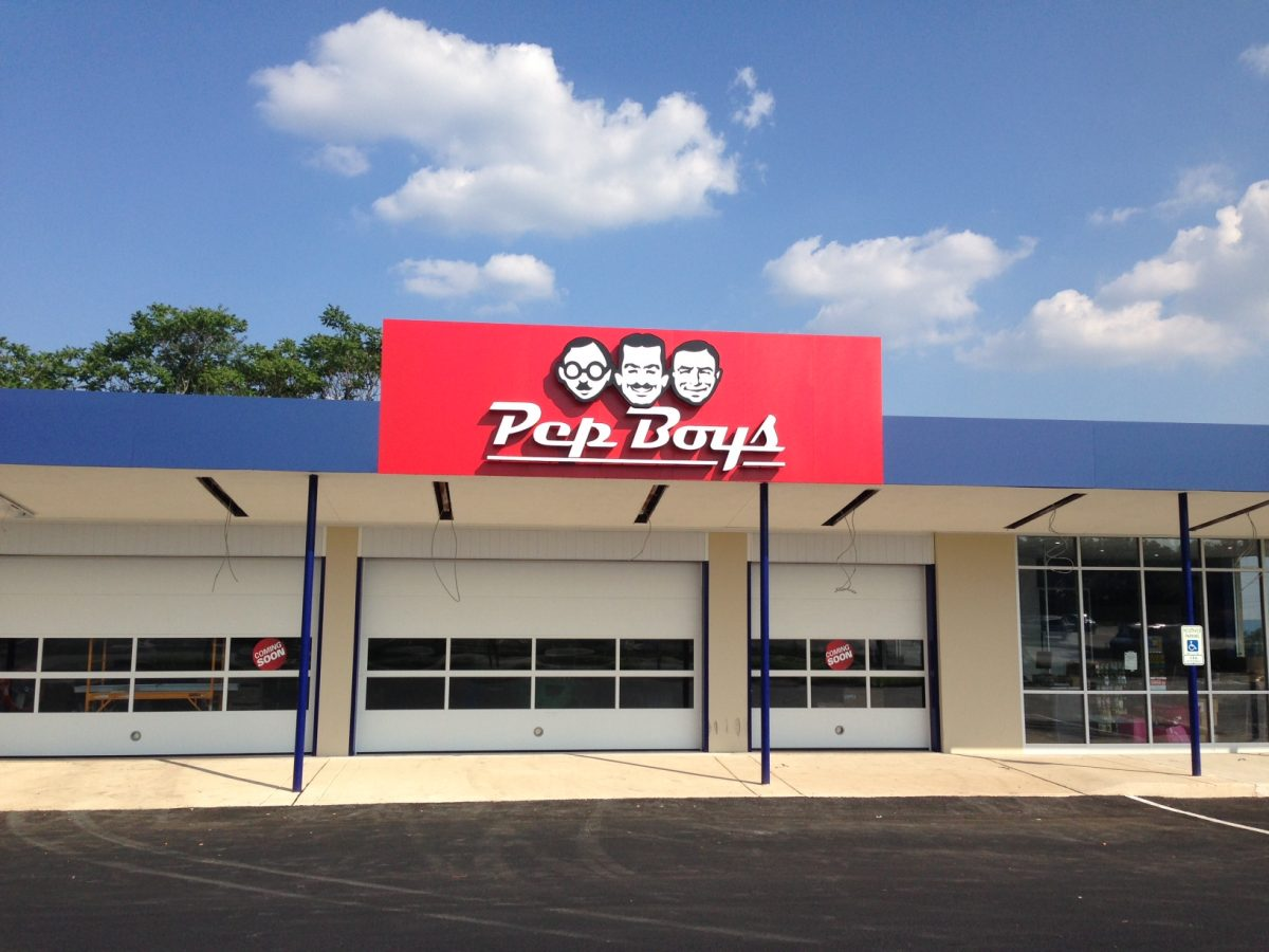 Pep Boys large store sign