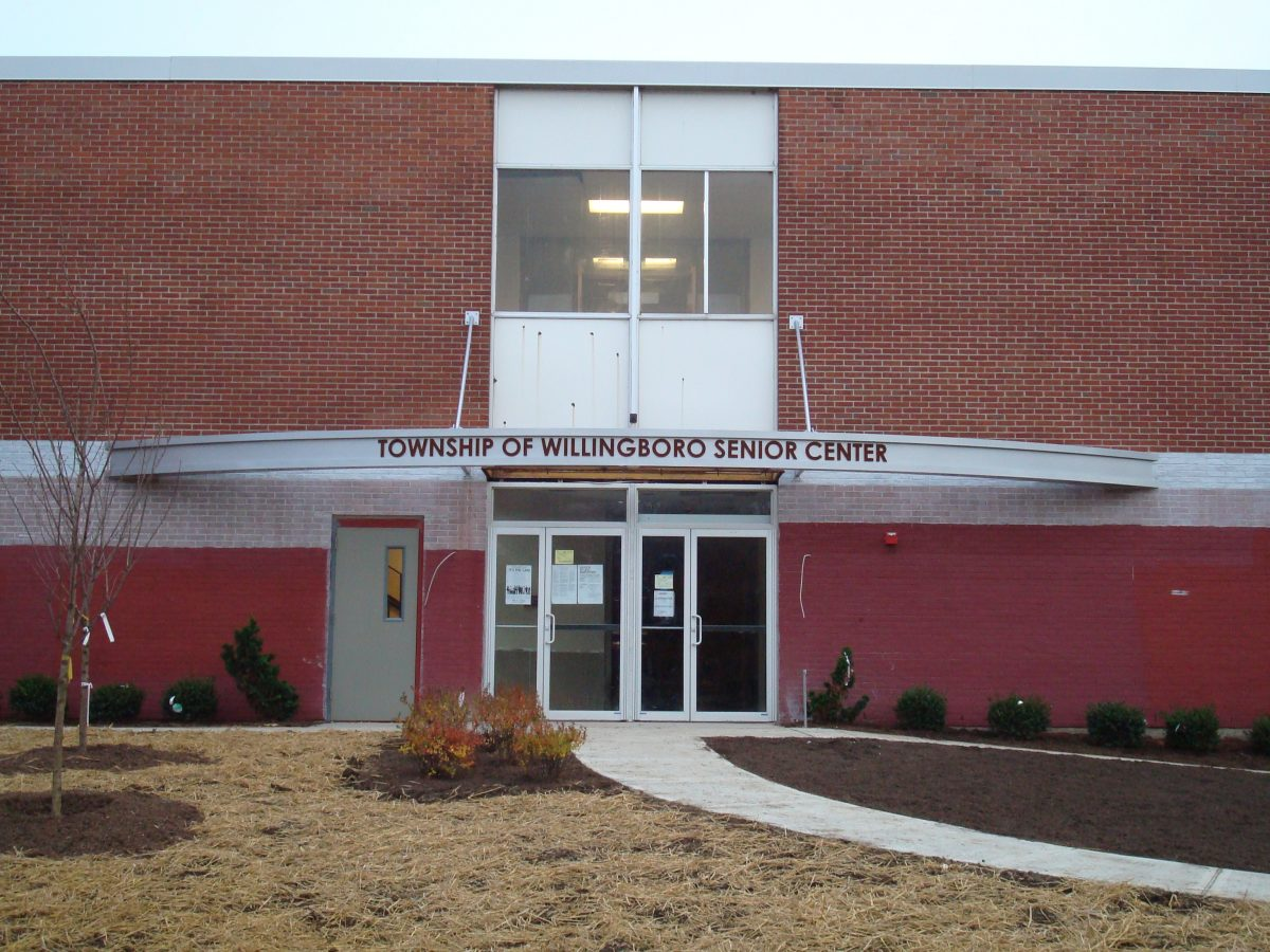 Willingboro Senior Center custom lettering
