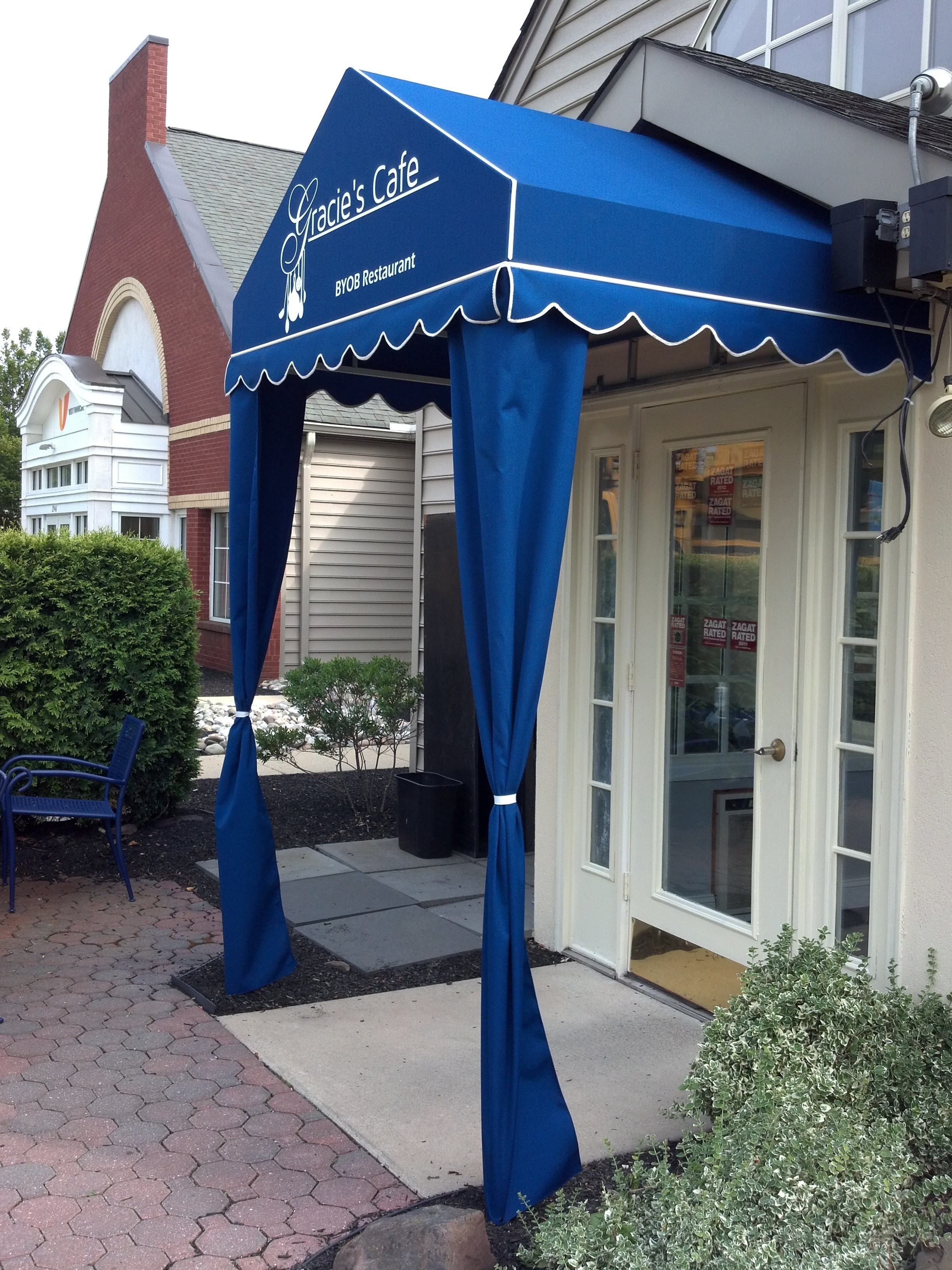 Gracies cafe with custom awning