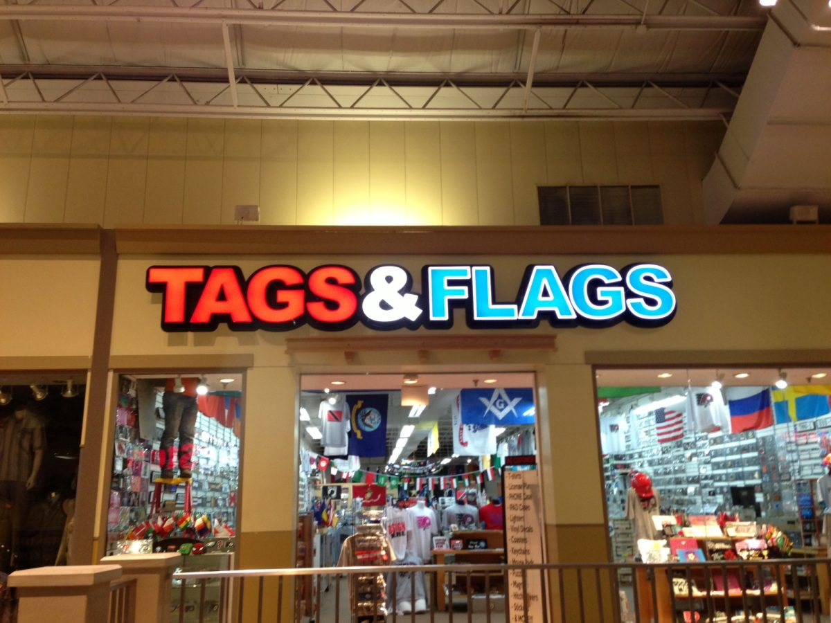 Lighted Tags & Flags custom lettering