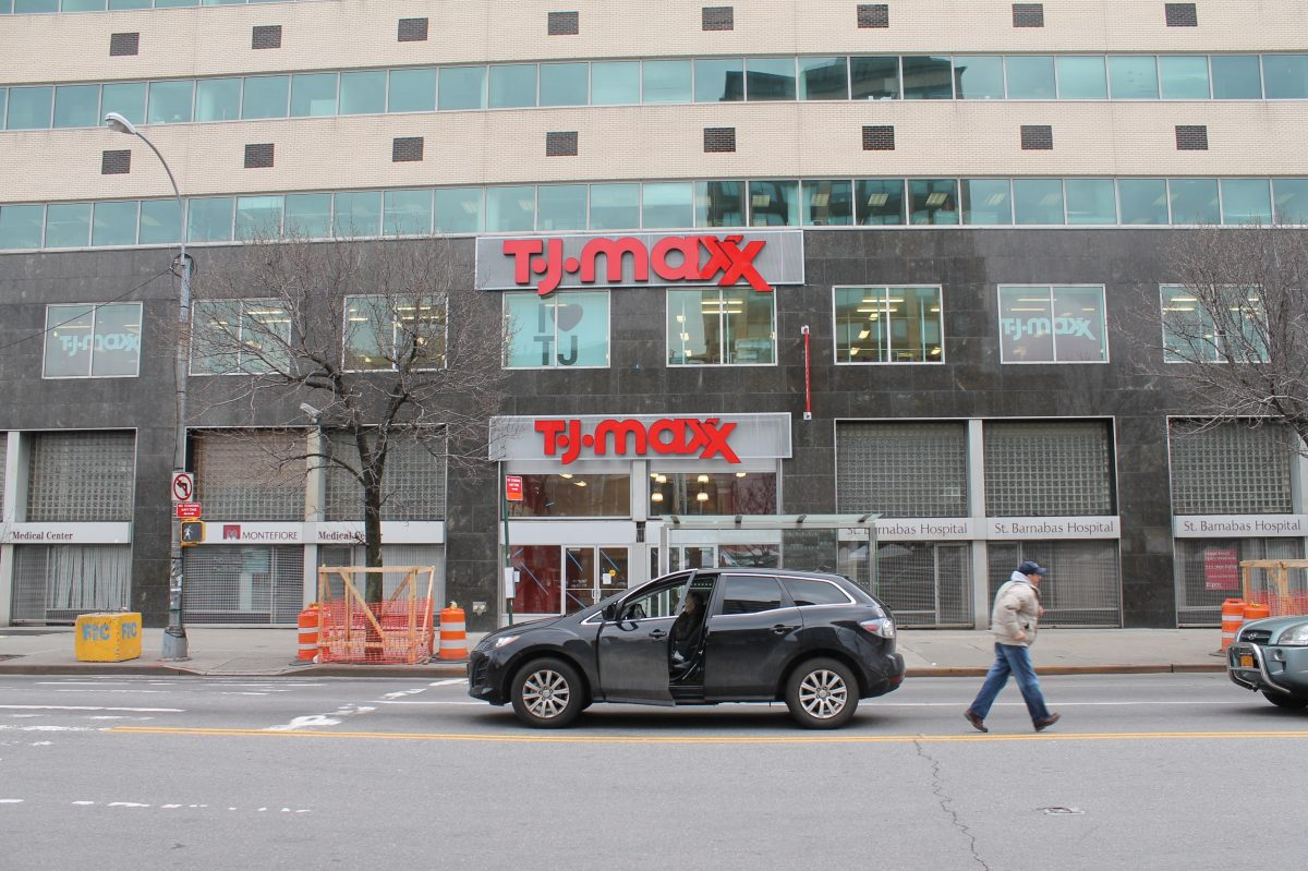 Street view showing the TJ Maxx signage